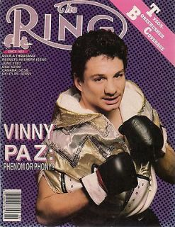 Newly listed The Ring ,1987, June, Vinny Paz  Phenom or Phony ?
