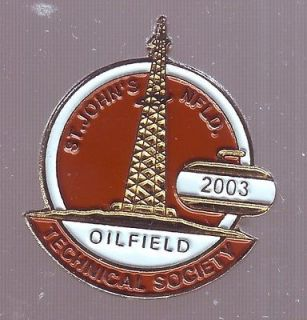 Curling St. Johns NL Oilfield Tech. So. 2003 Lapel Pin