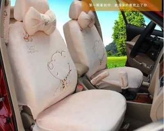 Cute plush bear cartoon winter warm seat cover car seat cover