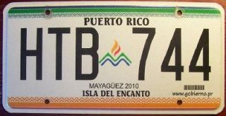 2009 PUERTO RICO CARIBBEAN OLYMPICS GAMES AUTO LICENSE PLATE TAG