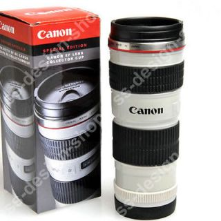 CANON EF 70 200mm LENS THERMOS TRAVEL MUG CUP TUMBLER