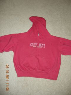 NM Gir Pink Fleece Hoodie Cape May NJ Logo Sz 7/8