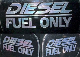 diesel fuel decal