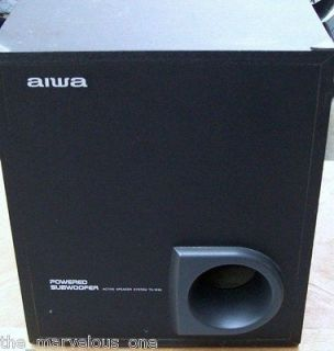 Aiwa TS W35U Powered Subwoofer Home Audio Stereo System Bass Sub FREE
