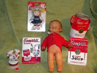 CAMPBELLS SOUP LOT IDEAL DOLL TRINKET BOX MAGNET 2 LIGHT SWITCH PLATES