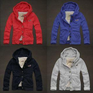 NWT HOLLISTER Abercrombie Womens Calabasas Sherpa Fleece Hoodie Jacket