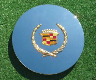 OEM Logo Chrome Gold REAL CADILLAC Deville Eldorado Wheel CENTER CAPS