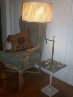 antique floor lamp marble