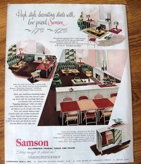 1948 Samson Folding Card Table Chairs Ad