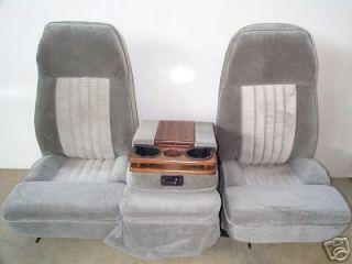 73 87 CHEVY/GMC 40/20/40 GRAY CLOTH BUCKET SEATS
