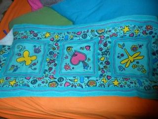 girl scout towel GS beach brownie collection 2012 hippie flowers retro
