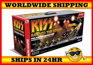 Auto World 13 KISS Funny Car Drag Race Slot Car Track Set