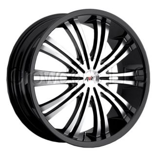Avenue Car Truck Wheel Rim Black 601 18 inch 5 lug