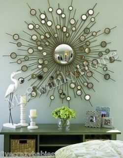 Extra Large 63  GOLD SUNBURST Starburst Mirror Modern