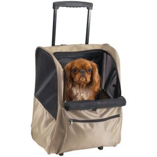 Deluxe Backpack on Wheels dog cat pet carrier tote cart 13L x 11½W