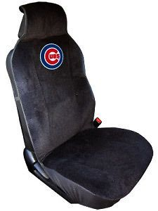 Cubs Embroidered Seat Cover (New) Car Auto MLB Black Truck SUV CDG