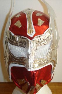 WWE SIN CARA MASK RED MATTEL FANCY DRESS COSTUME UP WRESTLING NEW
