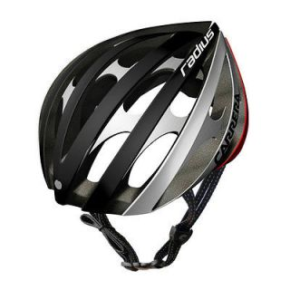 2013 Carrera E00369 Radius Road Bike Cycle Helmet Black/White/Re d