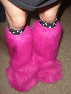 Newly listed pink glitter fuzzy boot covers.