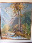 Vintage California Landscape Painting Carmel Artist