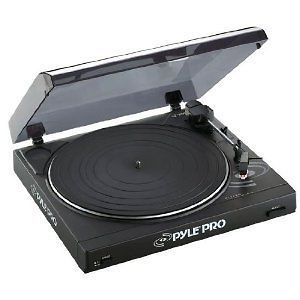 Pyle Pro Audio Belt Drive Turntable Record Player USB Proffesional