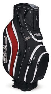 NEW Ping PIONEER Black/Inferno Red 14 Way Cart Bag