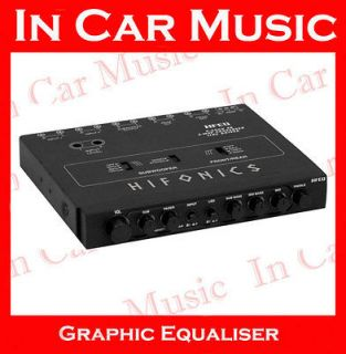 HFEQ 4 band Car Graphic Equaliser EQ Crossover with 9V Line Driver