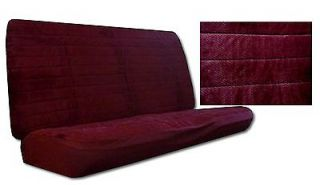 New Maroon Madrid Quilted Velour Bench Car Truck SUV Seat Covers