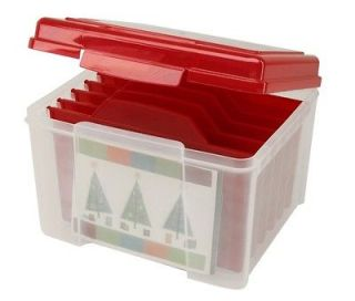 Holiday Card Storage Box Greeting Card Organizer Postcard Storage KP