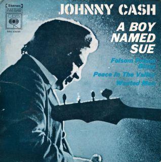 JOHNNY CASH A Boy Named Sue 1960s OZ EP / Folsom Prison Blues