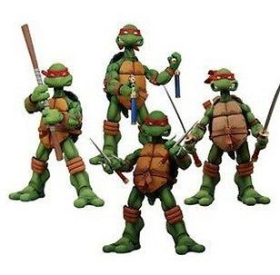 ORIGINAL NECA TEENAGE MUTANT NINJA TURTLES 4PCS FIGURES NEW IN BOX