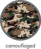 Camouflaged Double Sided 12 x 12 Scrapbooking Paper Reminisce