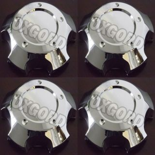 Pc Set Chrome Center Caps For Steel Wheels or Alloy Rims Pop In Skin