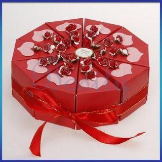 Cake Slice Box Baby Shower Wedding Favor Box Centerpiece Love Heart