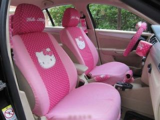 HELLO KITTY CAR SEAT COVERS FRONT AND REAR COVER ACCESSORY,ROSE