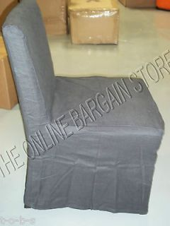 Barn West Elm Porter armless dining Kitchen Table Chair slipcover 2