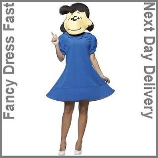 Size 10 12 Lucy Costume Fancy Dress Peanuts Cartoon Charlie Brown STD