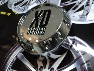KMC XD SERIES CHROME WHEEL CENTER CAP 464K131 2