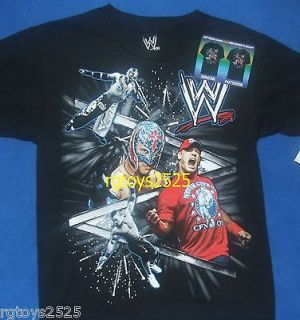 WWE John Cena Size Rey Mysterio Size 10 12 Large Childs T Shirt New