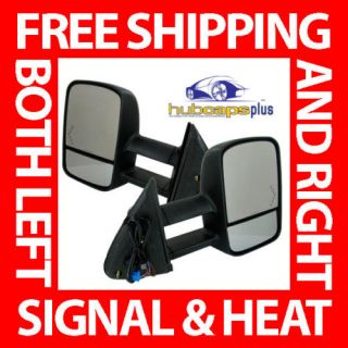 CHEVY GMC TRUCK POWER HEATED SIGNAL TOW MIRRORS KIT