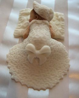TOPPER Baptism Christening gown dress white pillow favor Centerpiece