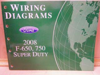 08 2008 FORD F650 F750 SUPER DUTY TRUCK WIRING MANUAL F 650 F 750