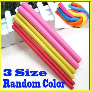 10x Hairstyle Bendy Hair Styling Roller Foam Curler Soft Stick Spiral