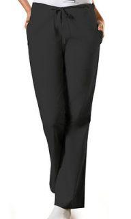 Cherokee 4101 BLKW Black Petite Scrubs Pants
