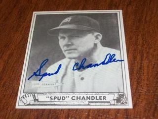 New York Yankees Spud Chandler Signed Auto 1940 Playball Reprint Card