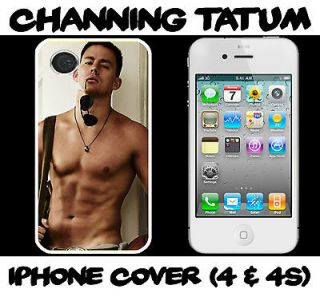 Channing Tatum WHITE I phone 4/4S hard case fits iphone 4 /4s mobile