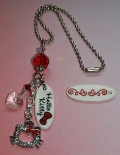 HELLO KITTY RED Rearview Mirror Car Charm Sunchaser