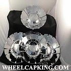 Arelli Wheels Chrome Custom Wheel Center Cap Caps Set 4 # 250 100C NEW