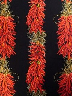 New Red Hot Chili Peppers Fabric BTY Vegetable Food Kitchen Mexican