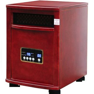 Deluxe Cherr Atlas Indoor Quartz Infrared Heater with Remote & TWO